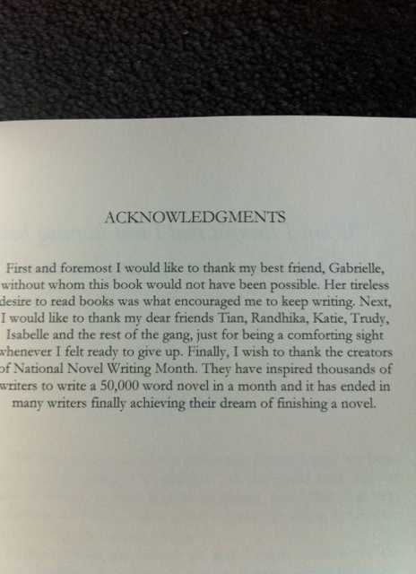 Acknowledgements!